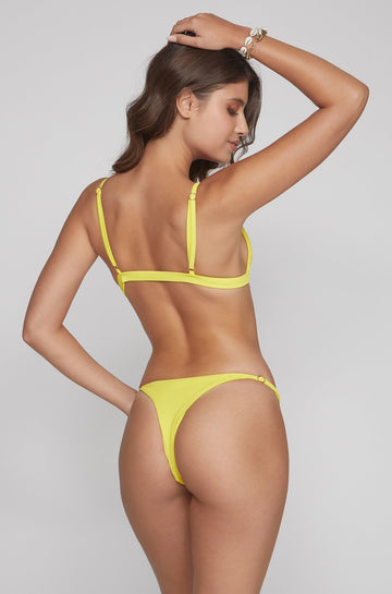Casi Bottom in Ribbed Yellow