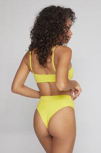 Ivanna Bottom in Ribbed Yellow