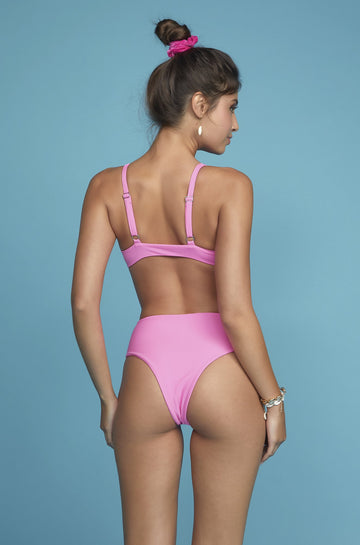 High Tide V-Bottom in Deep Pink