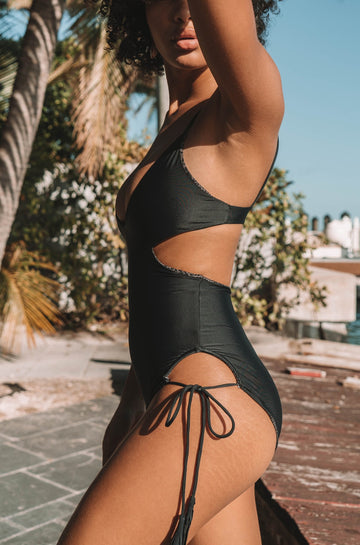 Greece One Piece in Black Beauty