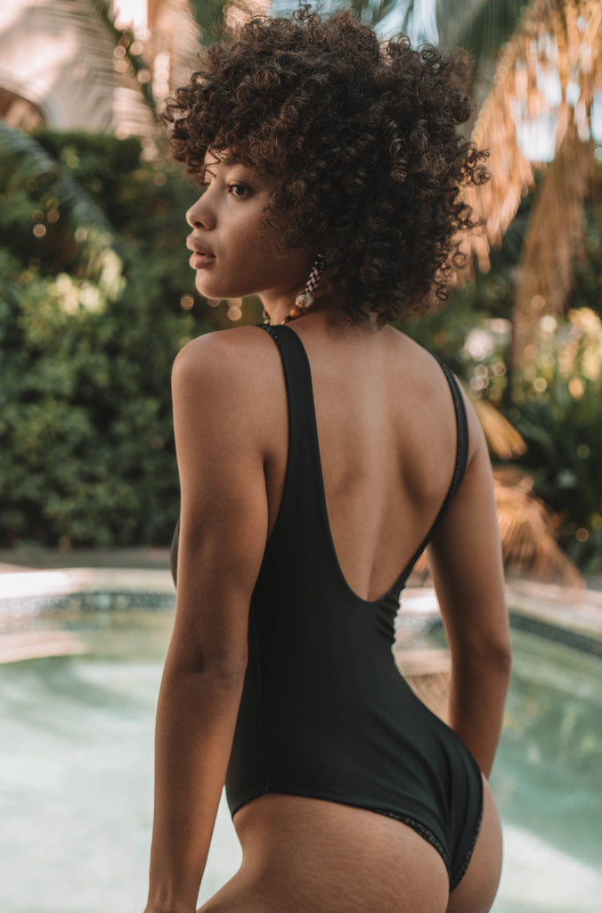 Palm Springs One Piece in Black Beauty