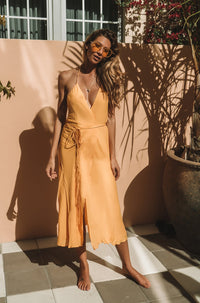Geranium Dress in Marigold