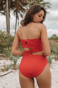 5bf2c39ca1b5e4 Simply Seamless One Piece in True Red and Black