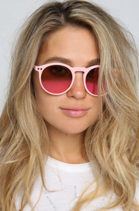 WILDFOX 2015 Steff Deluxe Sunglasses in Pink|ISHINE365 - 1