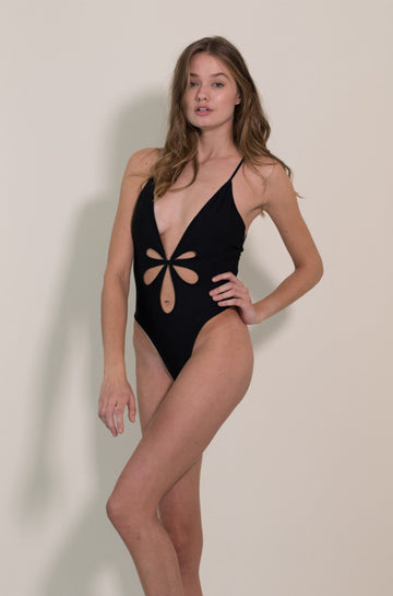 Le Fleur One Piece in Black