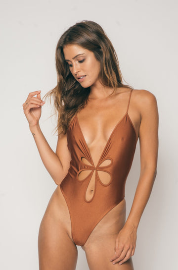 Le Fleur One Piece in Coconut Brown