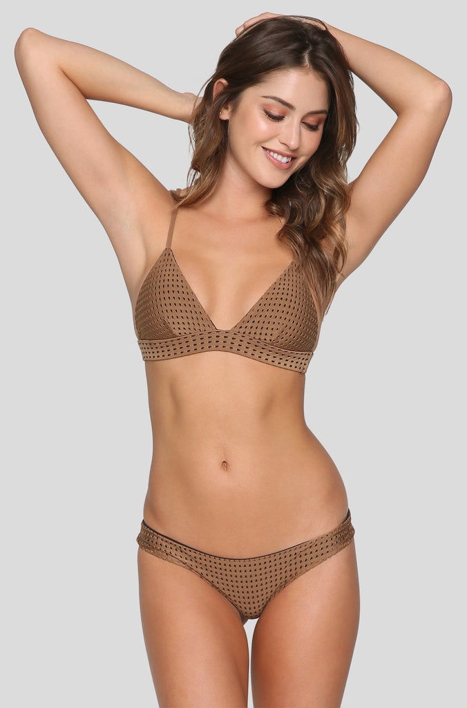 Awapui Mesh Bikini Top in Beach Babe/Shadow