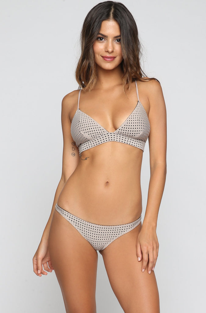 ACACIA SUMMER Pipeline Mesh Bikini Bottom in Driftwood/Storm|ISHINE365 - 3