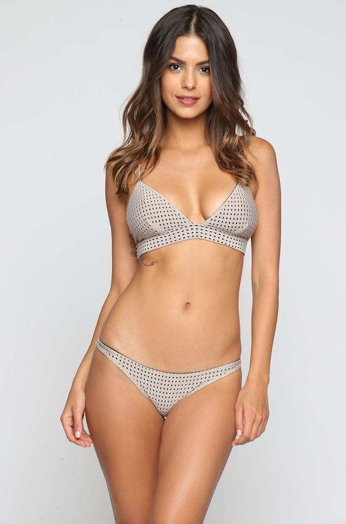 ACACIA SUMMER Pipeline Mesh Bikini Bottom in Driftwood/Storm|ISHINE365 - 2