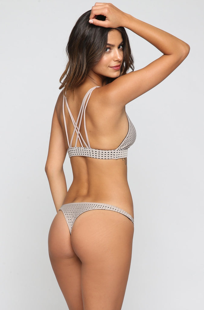 ACACIA SUMMER Pipeline Mesh Bikini Bottom in Driftwood/Storm|ISHINE365 - 4