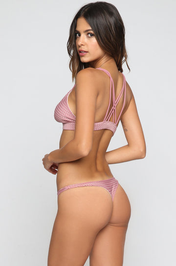 ACACIA SUMMER Pipeline Mesh Bikini Bottom in Orchid/Foam|ISHINE365 - 1