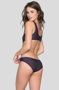 Colombia Mesh One Piece in Blackberry/Clay