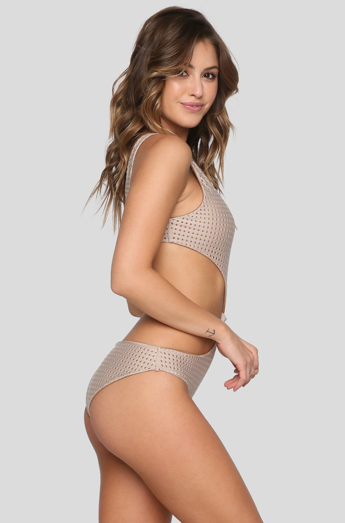 Colombia Mesh One Piece in Clay/Beach Babe