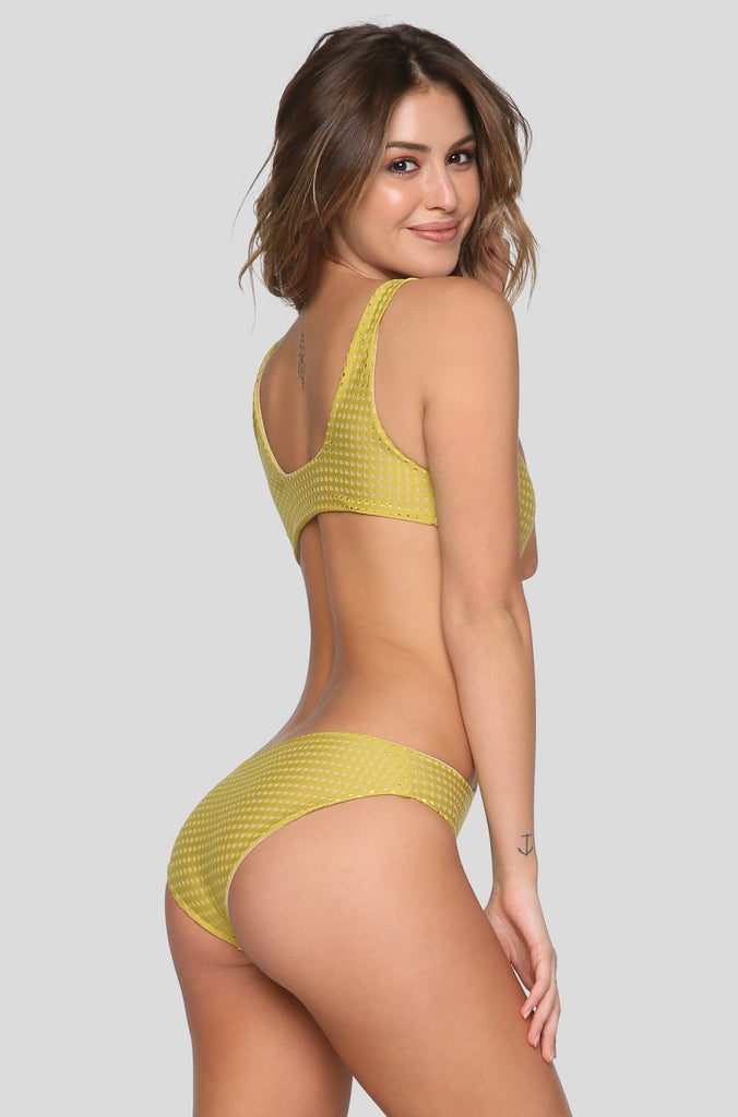 Colombia Mesh One Piece in Pineapple/Clay