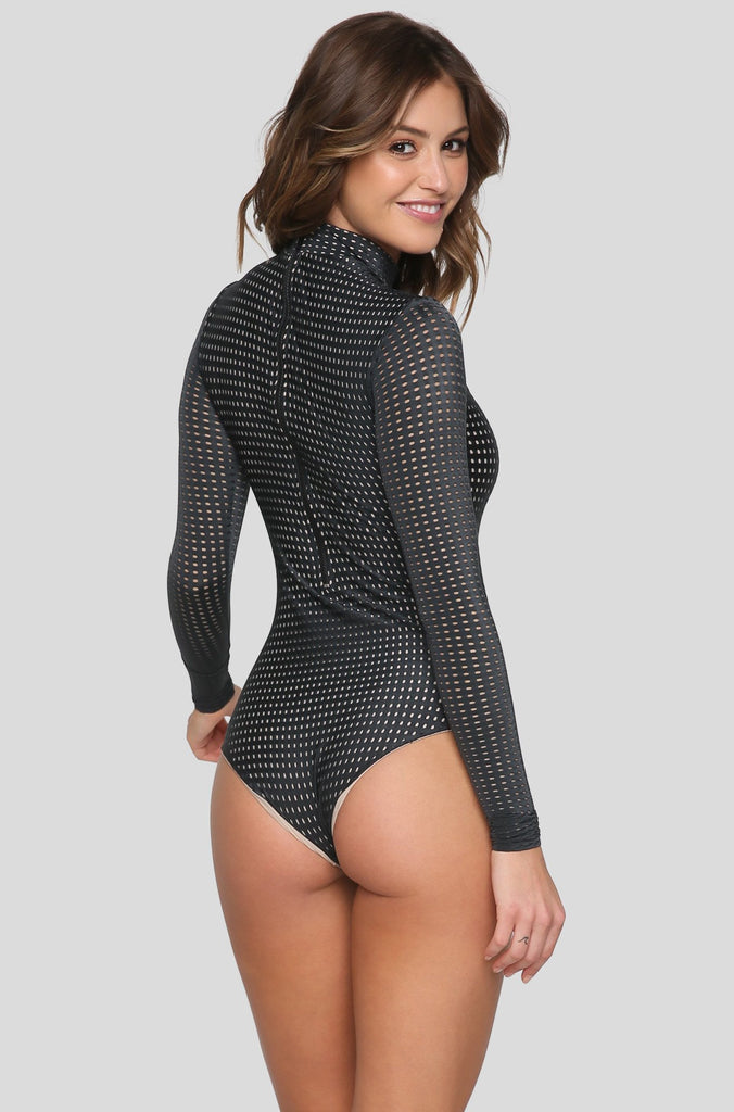Ehukai Mesh One Piece in Shadow/Clay