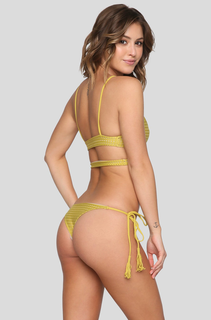 Haku Mesh Bikini Top in Pineapple/Clay