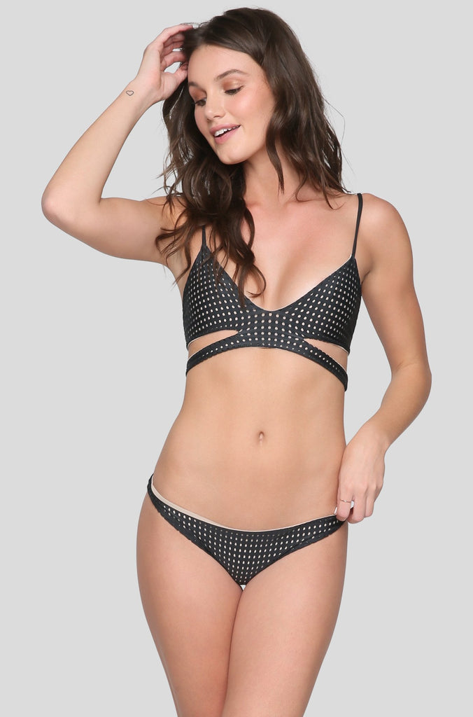 Haku Mesh Bikini Top in Shadow/Clay