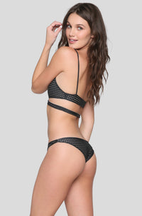 Waikoloa Mesh Bikini Bottom in Shadow/Clay