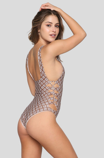 Hideaways One Piece in Daisy Block