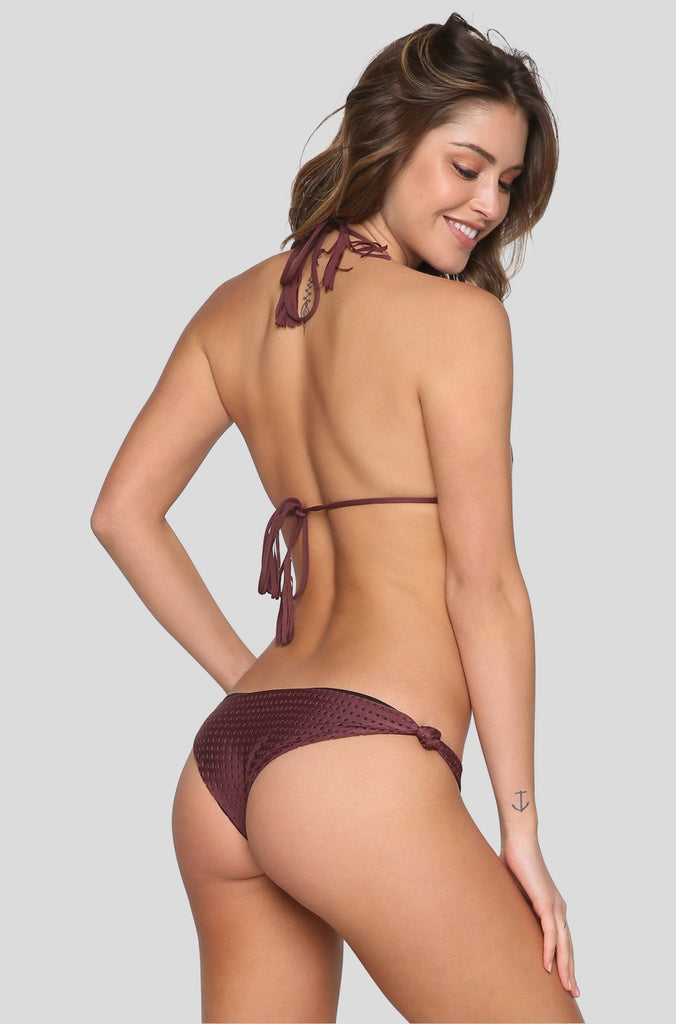 Humuhumu Mesh Bikini Top in Merlot/Shadow