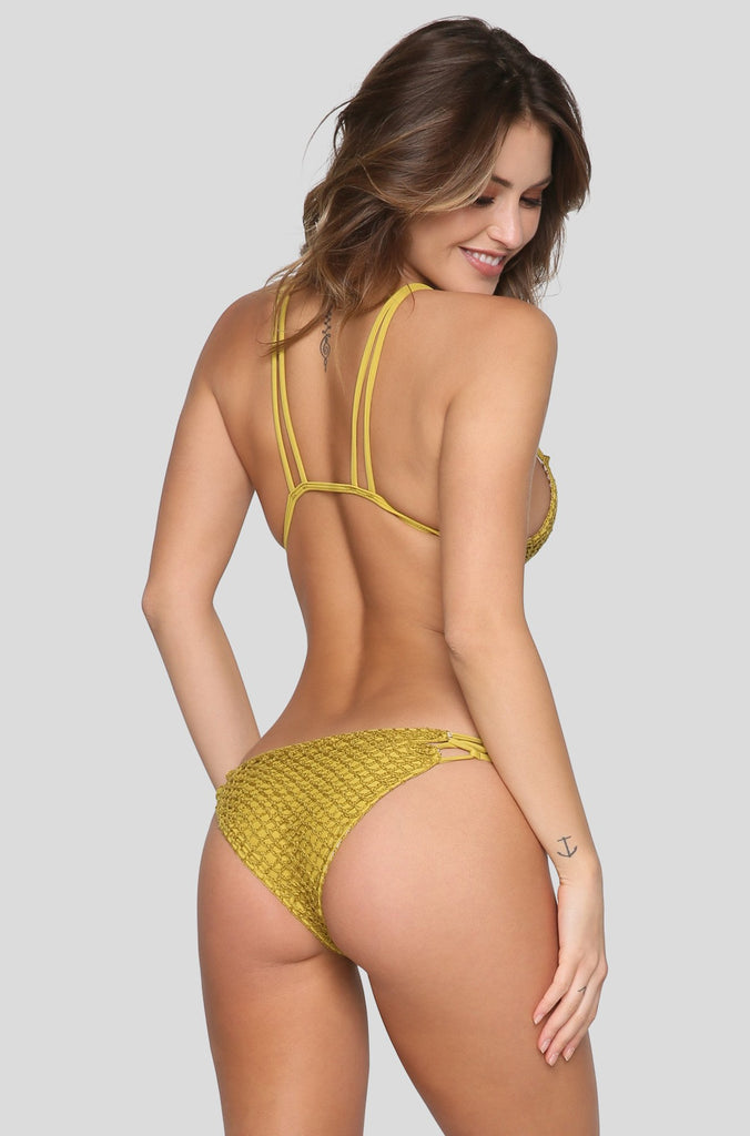 Kekaha Crochet Bikini Top in Pineapple