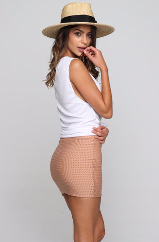 Paia Fitted Skirt in Topless