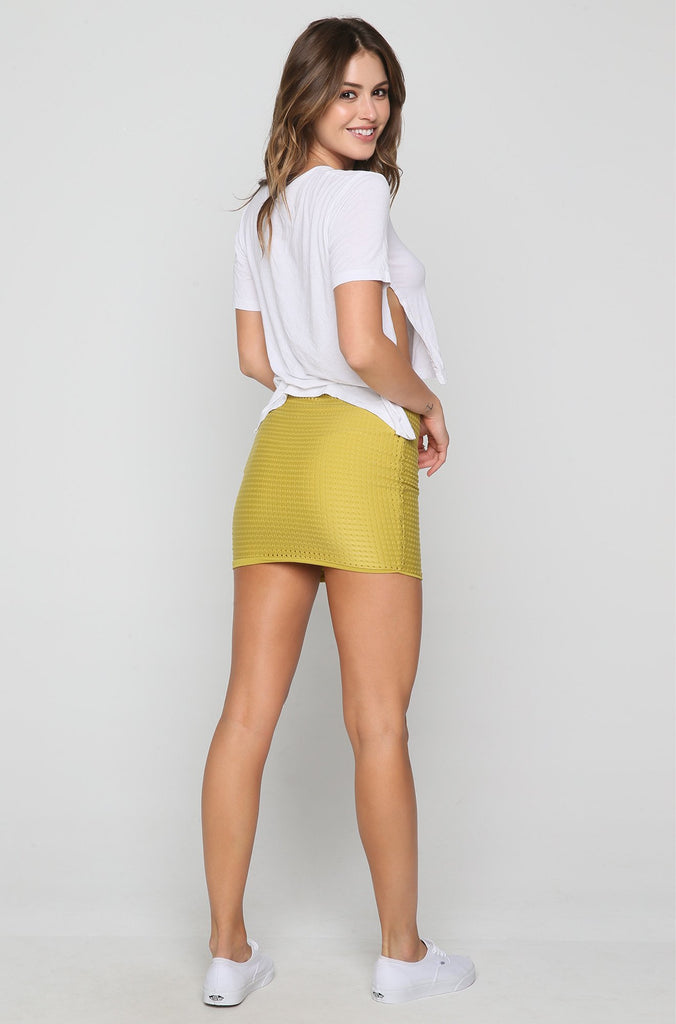 Paia Mesh Skirt in Pineapple