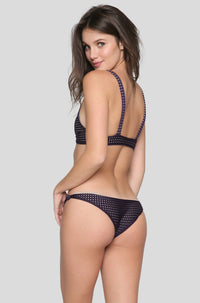 Cusco Mesh Bikini Bottom in Blackberry/Clay