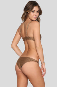 Spain Mesh Bikini Top in Beach Babe/Shadow