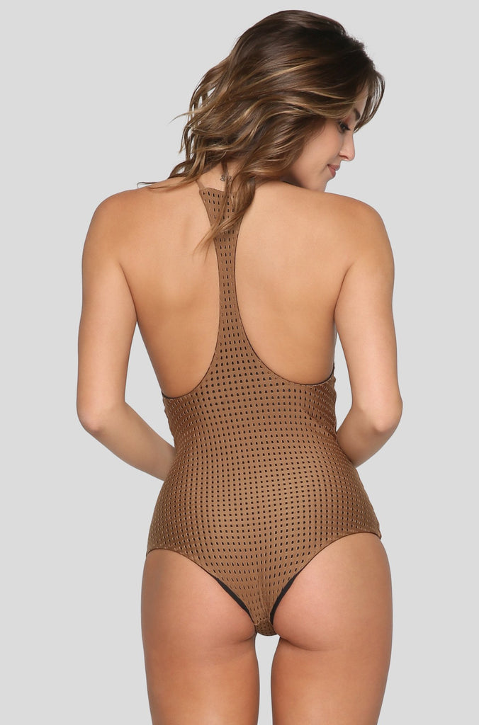 Sunset Mesh One Piece in Beach Babe/Shadow