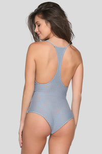 Sunset Mesh One Piece in Sky/Beach Babe