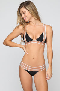 ACACIA X OLYMPIA Hamptons Bikini Bottom in Storm/Foam|ISHINE365 - 4