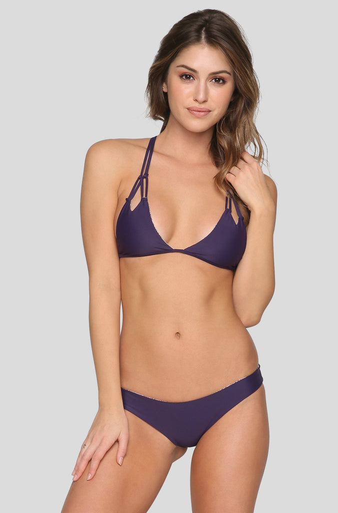 Makai Bikini Bottom in Blackberry