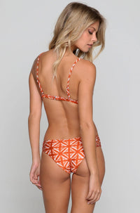 Rosita Bikini Top in Brandy Tie Dye