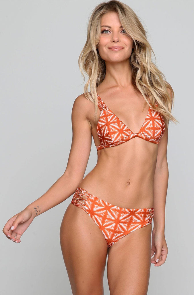 Ana Bikini Bottom in Brandy Tie Dye