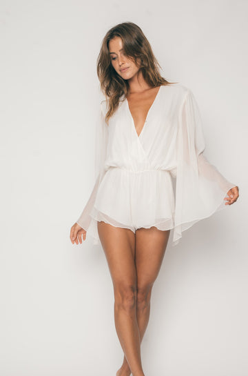 Penny Lane Romper in Angel Chiffon