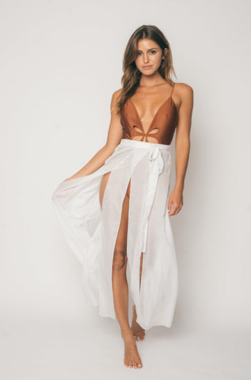 Barefoot Wrap Skirt in Tulum Gauze