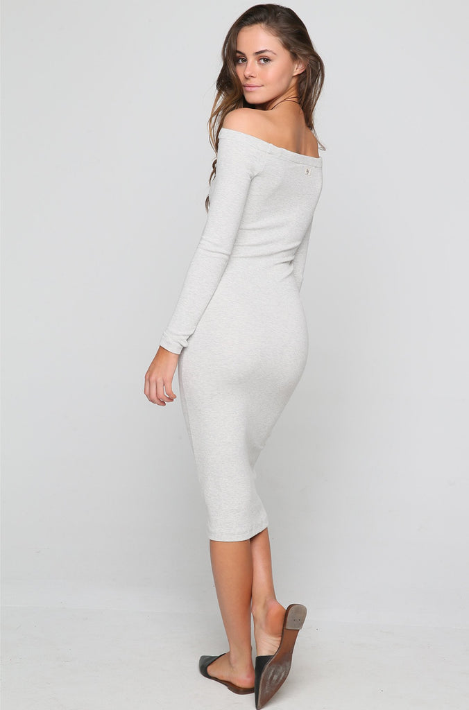 Help Myself Midi Dress in Ice Athletic Grey