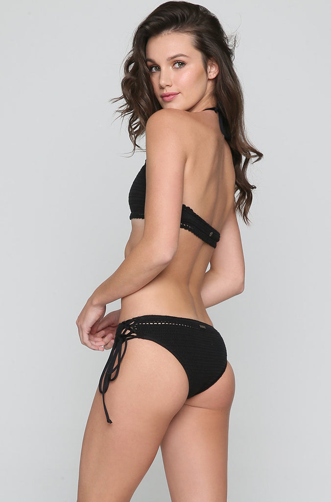 Hippie Hooray Biarritz Bikini Bottom in Black