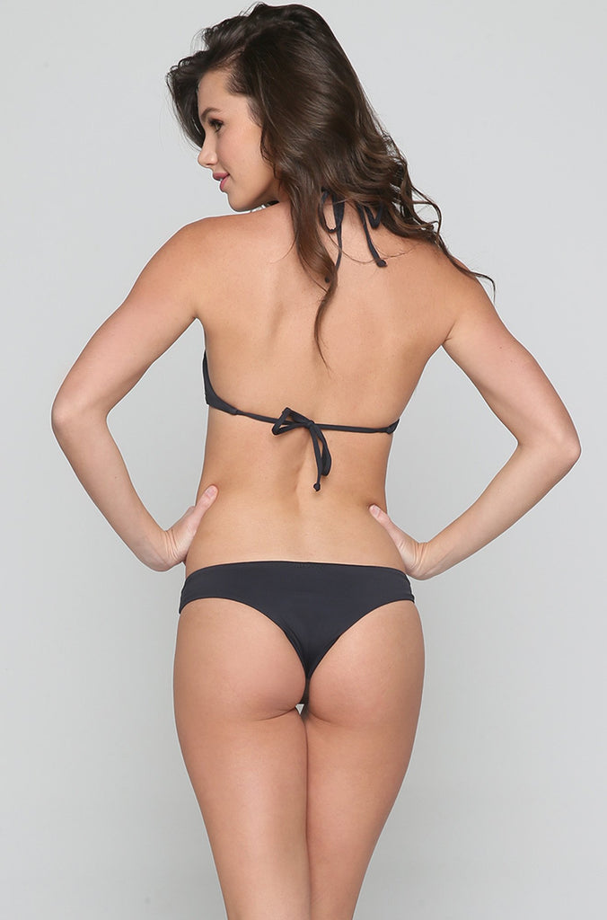 Sol Searcher Cami Bikini Top in Black Sands