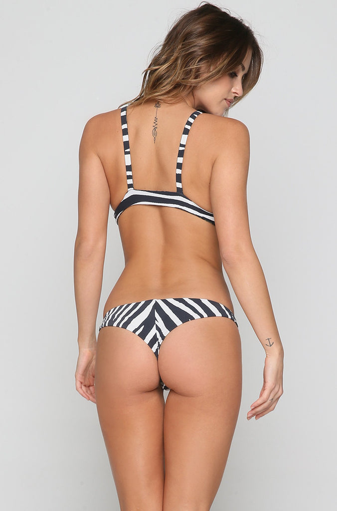 Wild One Branded Triangle Bikini Top in Multi