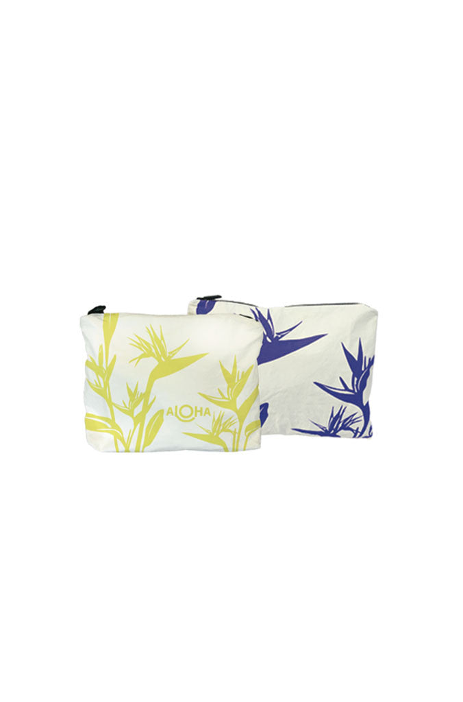 Birds of Paradise Small Reversible Pouch in Sunny Days/Maui Nights