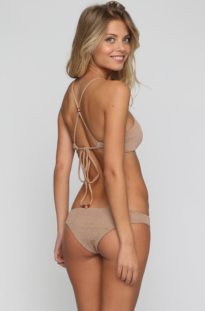 Mermaid Cheeky Bikini Bottom in Sandstorm