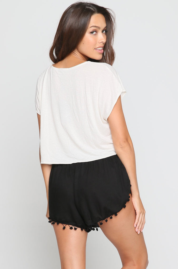 Pom Pom Shorts in Black