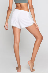 Pom Pom Shorts in White