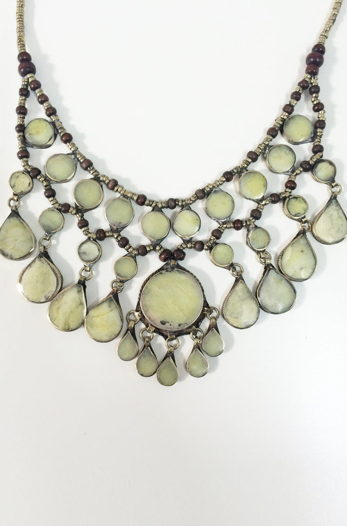 Natalie B Jewelry Cassidy Necklace in Moss Jade|ISHINE365 - 5