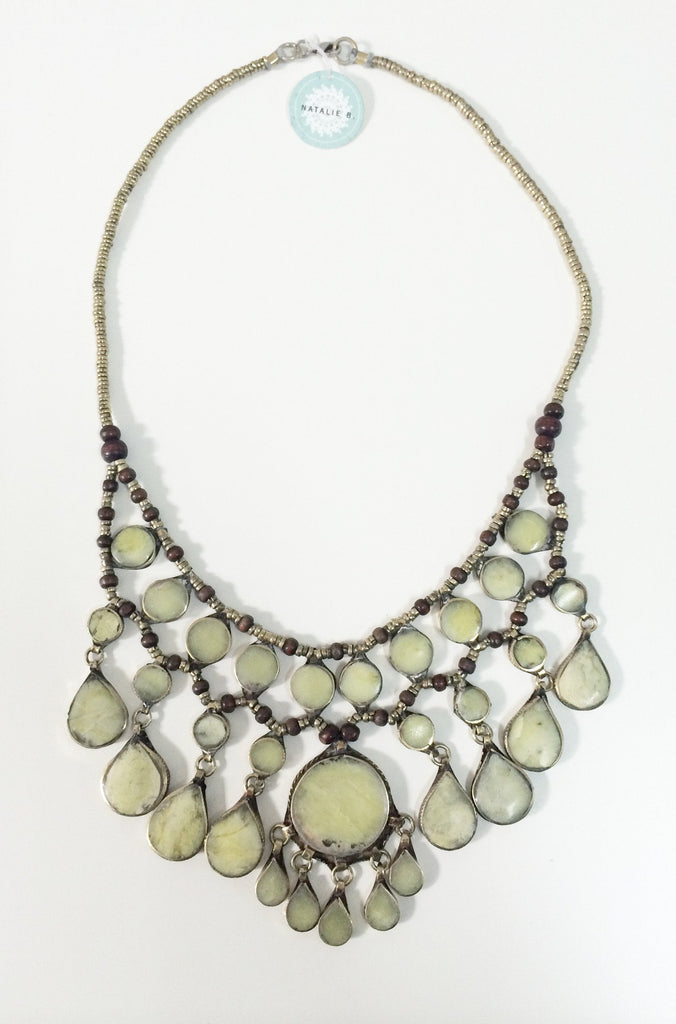 Natalie B Jewelry Cassidy Necklace in Moss Jade|ISHINE365 - 2