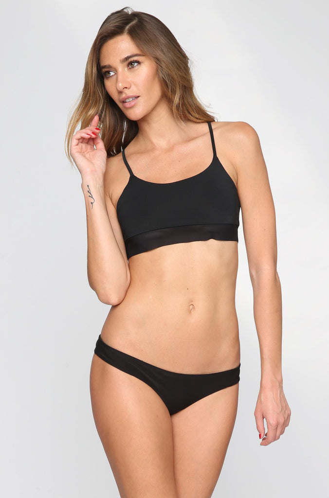 Donna Mizani Cami Bikini Top in Black|ISHINE365 - 3