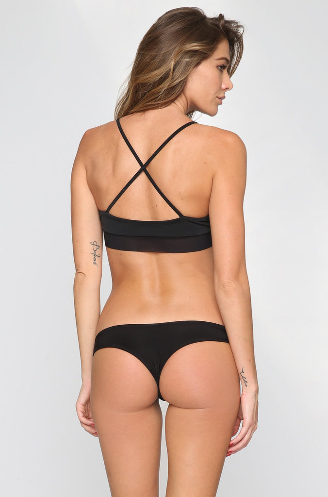 Donna Mizani Cheeky Bikini Bottom in Black|ISHINE365 - 1