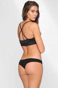Donna Mizani Cheeky Bikini Bottom in Black|ISHINE365 - 3